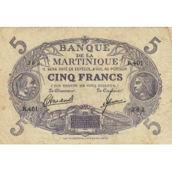 Martinique - Pick 6-3 - 5 francs - 1945 - Etat : TB+