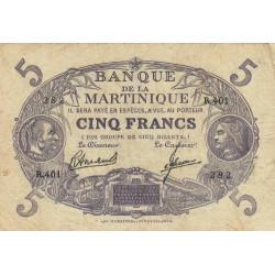Martinique - Pick 6-3 - 5 francs - 1945 - Etat : TB+
