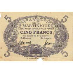 Martinique - Pick 6-3 - 5 francs - 1945 - Etat : TB-