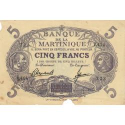 Martinique - Pick 6-3 - 5 francs - 1945 - Etat : TB-