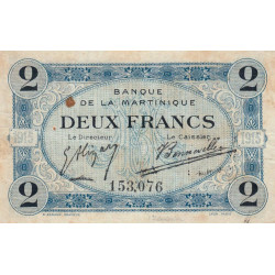 Martinique - Pick 11-1 - 2 francs - 1915 - Etat : TTB