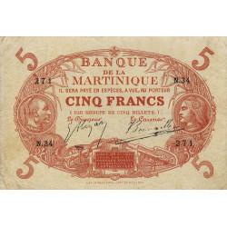 Martinique - Pick 6A-1 - 5 francs - 1903 - Etat : TB+