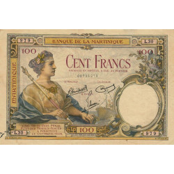 Martinique - Pick 13-5 - 100 francs - 1945 - Etat : TTB