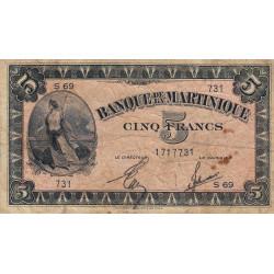 Martinique - Pick 16-2b - 5 francs - 1944 - Etat : TB-