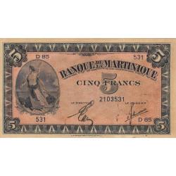 Martinique - Pick 16-2b - 5 francs - 1944 - Etat : SUP+