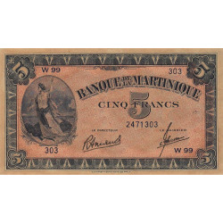 Martinique - Pick 16-3 - 5 francs - 1945 - Etat : SPL