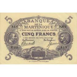 Martinique - Pick 6-3 - 5 francs - 1945 - Etat : pr.NEUF