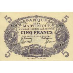 Martinique - Pick 6-3 - 5 francs - 1945 - Etat : SPL+