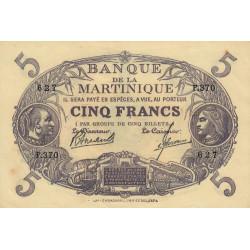 Martinique - Pick 6-3 - 5 francs - 1945 - Etat : SPL