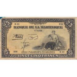 Martinique - Pick 17-1 - 25 francs - 1943 - Etat : TTB+