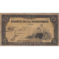 Martinique - Pick 17-1 - 25 francs - 1943 - Etat : TB