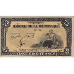 Martinique - Pick 17-3 - 25 francs - 1945 - Etat : SUP+
