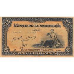 Martinique - Pick 17-3 - 25 francs - 1945 - Etat : SPL