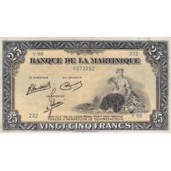Martinique - Pick 17-3 - 25 francs - 1945 - Etat : TTB