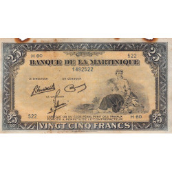 Martinique - Pick 17-3 - 25 francs - 1945 - Etat : TB+