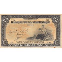 Martinique - Pick 17-3 - 25 francs - Variété - 1945 - Etat : TTB+