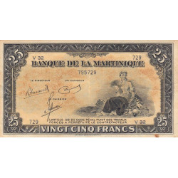 Martinique - Pick 17-3 - 25 francs - Variété - Etat : TTB+