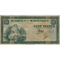 Martinique - Pick 19-1 - 100 francs - 1943 - Etat : TB+