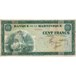 Martinique - Pick 19-2 - 100 francs - 1944 - Etat : TB+