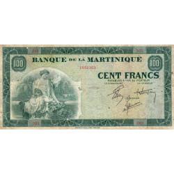 Martinique - Pick 19-2 - 100 francs - 1944 - Etat : TB+