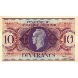 Martinique - Pick 23 - 10 francs - France Outre-Mer - 1944 - Etat : TTB