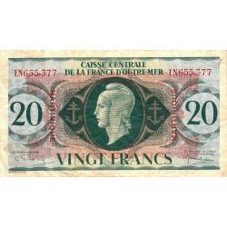Martinique - Pick 24 - 20 francs - France Outre-Mer - 1944 - Etat : TB