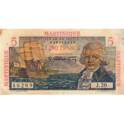 Martinique - Pick 27 - 5 francs - France Outre-Mer - 1947 - Etat : TB