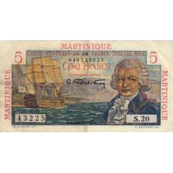 Martinique - Pick 27 - 5 francs - France Outre-Mer - 1947 - Etat : TB+