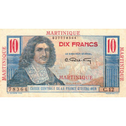 Martinique - Pick 28 - 10 francs - France Outre-Mer - 1947 - Etat : TTB+