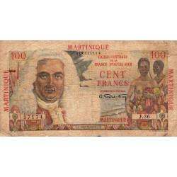 Martinique - Pick 31 - 100 francs - France Outre-Mer - 1947 - Etat : B+