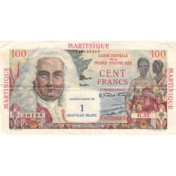 Martinique - Pick 37 - 1 nouveau franc sur 100 francs - 1960 - Etat : SUP