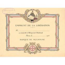 75 - Paris - Banque de Mulhouse - Emprunt de la Libération - 1918
