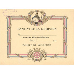 Emprunt de la Libération - 1918 - 75 Paris Banque de Mulhouse