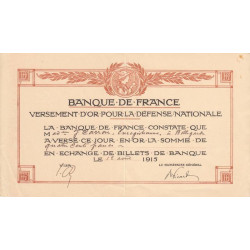 01 - Bellegarde - Versement d'or pour la Défense Nationale - 1915