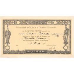03 - Vichy - Versement d'or pour la Défense Nationale - 1916