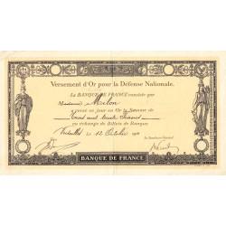 78 - Versailles - Versement d'or pour la Défense Nationale - 1916