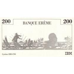 IBM - Semeuse - Format 200 francs MONTESQUIEU - DIS-01-B-01 - Etat : SUP