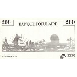 IBM - Semeuse - Format 200 francs MONTESQUIEU - DIS-01-B-02 - Etat : SUP