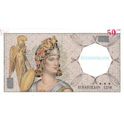 Athena à gauche - Format 50 francs QUENTIN DE LA TOUR - DIS-03-G-01 - Etat : SPL