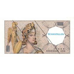Athena à gauche - Format 100 francs DELACROIX - DIS-03-H-02 - Etat : pr.NEUF