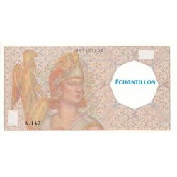 Athena à gauche - Format 100 francs DELACROIX - DIS-03-I essai 1 - Etat : SPL