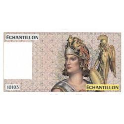 Athena à droite - Format 100 francs DELACROIX - DIS-04-A-03 - Etat : SPL