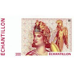 Athena à droite - 200 francs - DIS-04-B-04 - Couleure rouge dominante - Etat : NEUF