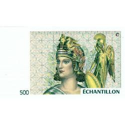 Athena à droite - 500 francs - DIS-04-B-05 - Couleure verte dominante - Etat : NEUF