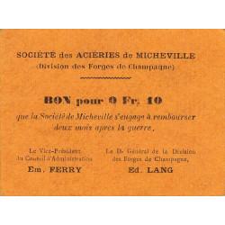 52 - Marnaval - Aciéries de Micheville - 0,10 franc - Etat : SUP