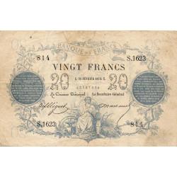 F A46-04 - 26/02/1873 - 20 francs - Type 1871 - Etat : TTB