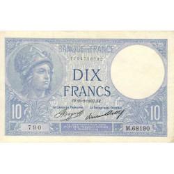 F 06-18 - 25/02/1937 - 10 francs - Minerve - Etat : TTB+