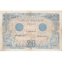 F 10-02 - 29/05/1912 - 20 francs - Bleu - Etat : TTB-