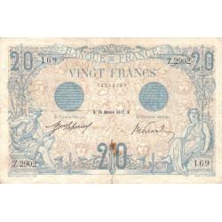 F 10-02 - 18/11/1912 - 20 francs - Bleu - Etat : TTB-