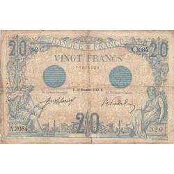 F 10-02 - 23/11/1912 - 20 francs - Bleu - Etat : TB-